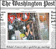 Portada del Washington Post
