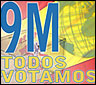 Logo de la campaña 9M: todos votamos