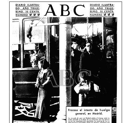 Portada de ABC dedicada a la huelga de 1934