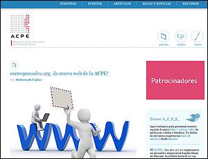 La nueva web de la ACPE
