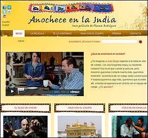 La web de Anochece en la India