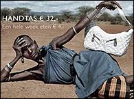 Anuncio de una ONG que mezcla moda y hambre