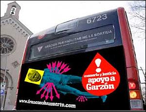 Anuncio en favor de Garzon