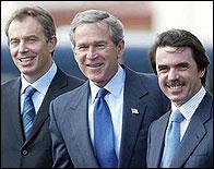 Blair, Bush y Aznar en las Azores