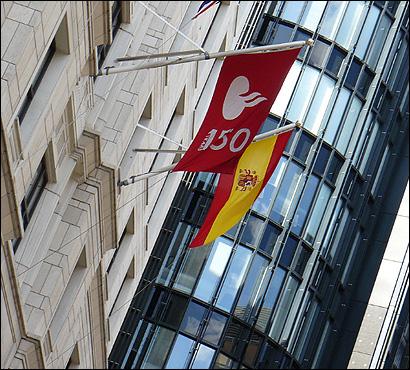 Bandera del Banco Santander