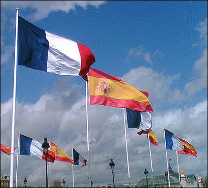 Banderas de España y Francia
