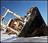 Barco en Kamchatka