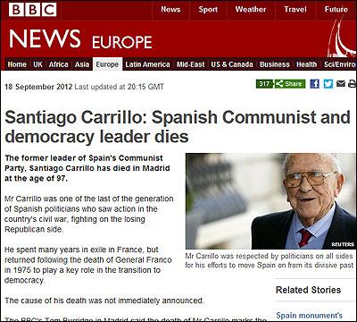 La muerte de Carrillo en la BBC