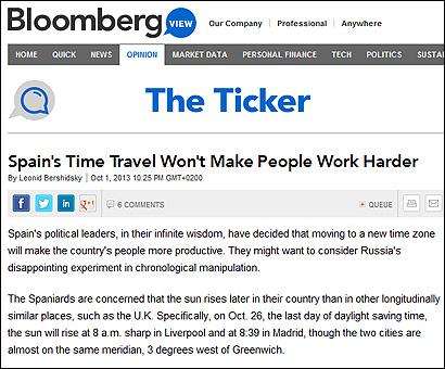El artículo de Bloomberg