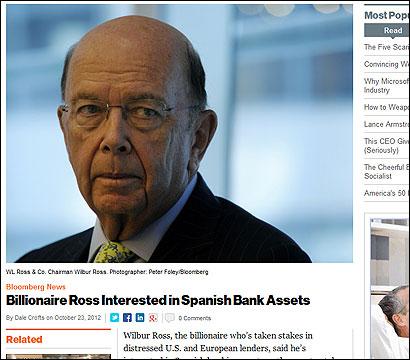 Wilbur Ross en la web de Bloomberg