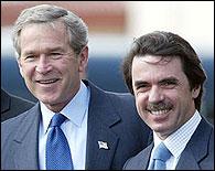 Bush y Aznar en la cumbre de las Azores