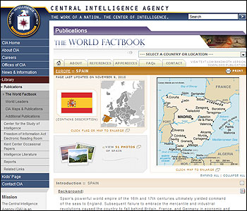Web del World Factbook
