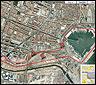 El trazado del circuito urbano de Valencia
