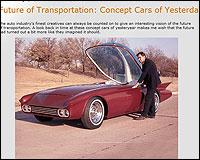 COche futurista imaginado en el pasado