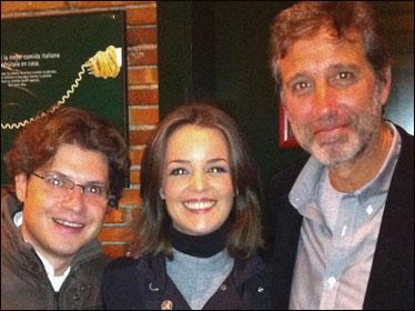 Fernando Berlín, María Martínez de La Sexta deportes con Emilio Aragón