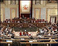El Congreso durante el debate