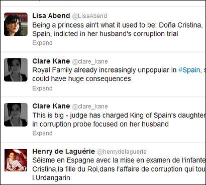 Algunos comentarios en twitter