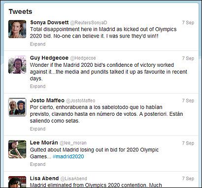 Algunos tuits de corresponsales