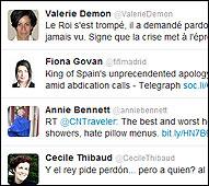Algunos mensajes de corresponsales en Twitter