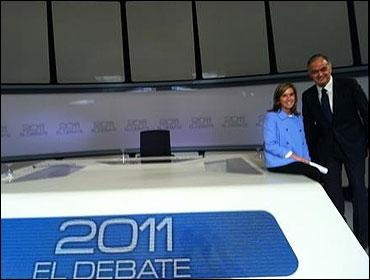 Ana Mato y Esteban Gonzalez Pons esperando