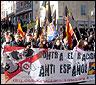 Manifestación de Democracia Nacional en Usera