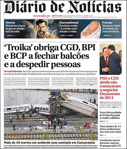 Portada de Diario de Noticias