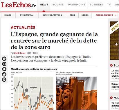 El artículo de Les Echos
