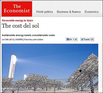 El artículo de The Economist