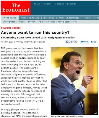 Rajoy en The Economist