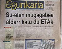 Un ejemplar de Egunkaria
