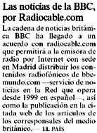 acuerdo con la BBC publicado por ELPAIS el 11-10-2003