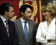 Esperanza Aguirre, Ignacio Gonzalez y Francisco Granados