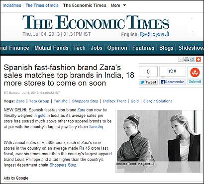 El artículo de The Economic Times