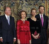 Los Reyes con la Infanta Cristina y Urdangarin