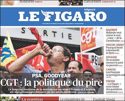 Portada de Le Figaro sobre el escándalo Bárcenas