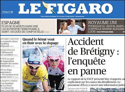 Portada de Le Figaro