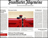 La portada del Frankfurter Allgemeine