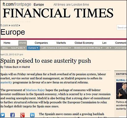 Artículo en el Financial Times