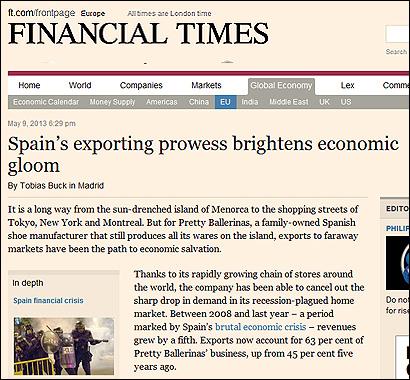 El artículo en Financial Times