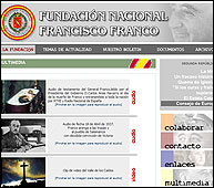 Web de la Fundación Francisco Franco