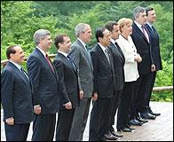 Los lideres del G8 en Japón