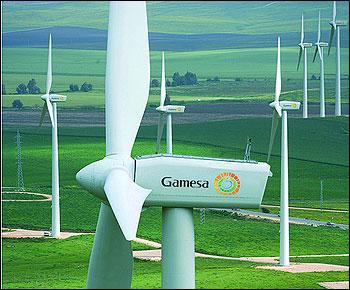 Una turbina de Gamesa