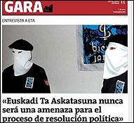 La entrevista a ETA en Gara