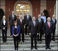 Primera foto en Moncloa del Gobierno de Rajoy