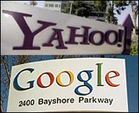 Logos de Yahoo y Google