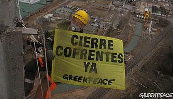 Accion de Greenpeace en Cofrentes