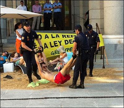 Los activistas detenidos