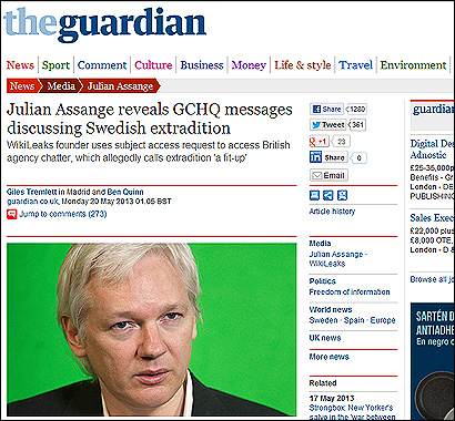 El artículo de The Guardian sobre Assnage y Salvados