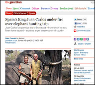 El articulo sobre la cacería en The Guardian