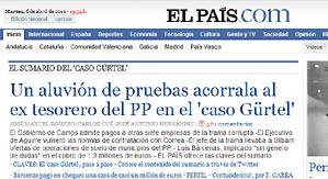 La portada de El País